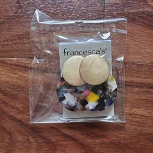 Francesca's Worn Circles earrings